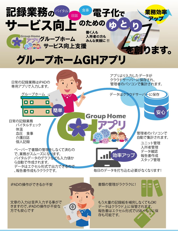 記録業務の電子化で業務効率化!GHアプリ
